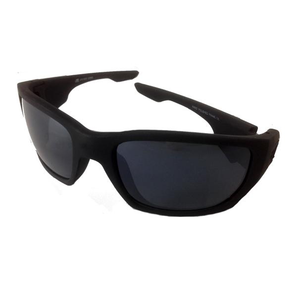 Herre solbriller i matt svart med mørke glass