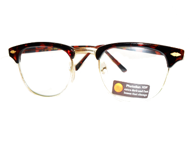 Runde solbriller med blå glas