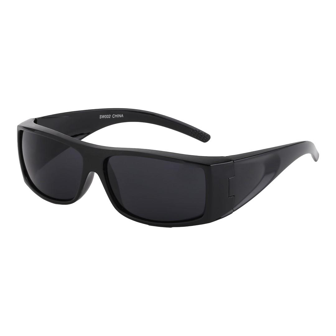 Solbriller med mørkt glass ✓